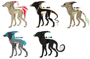 Canine Adoptables 4 CLOSED by Neciridae
