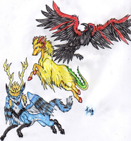 Mermaid, Beast And Raven by ARVEN92