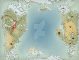 Ice Age World Map by Innuo
