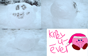 Snow Kirby by Kirby-4-ever