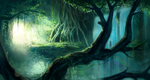 Forest Cave Concept by raikoart
