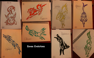 Eeve Evolutions by RitanaPais