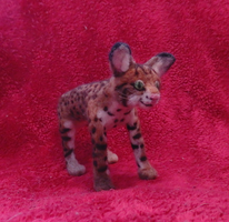 Felted Bobcat by DancingVulture