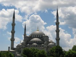 blue mosque by canarijaune
