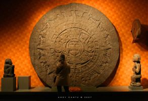 Tourist and Aztec Calendar by blueink-ac