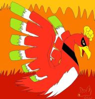 HO-OH: Legendary Bird of Fire by Canine-Wild