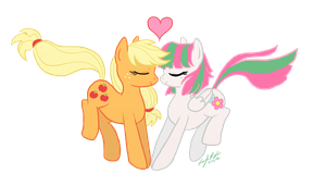 Applejack and Blossomforth by AngelicModivation