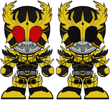 Chibi Kamen Rider Kuuga - Rising Ultimate Form by Zeltrax987