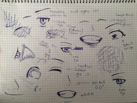 Mouth and Eyes 001 by Hauen