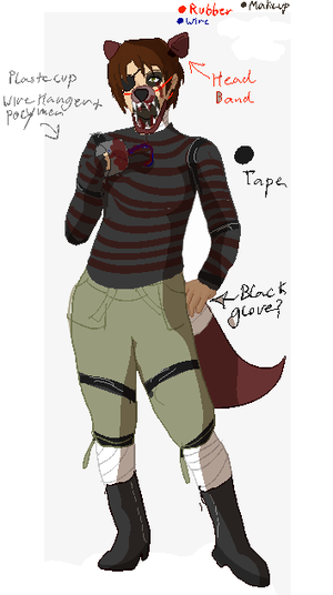 Very sloppy FNAF Halloween Costume Schematic by thetriforcebearer