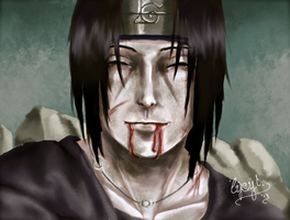 Itachi: trying a new colouring style by Lysyth