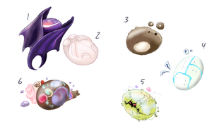 Hand Drawn: Egg Adoptables (CLOSED) by Angeli-The-Icefairy