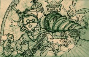 boceto BioShock by crispawn