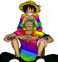 Zoro and Luffy by Mugiwara-no-Lari