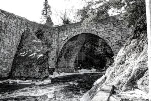 Stone Arch Bridge - Gilsum new Hampshire by AlpoArts