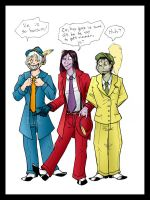 Jagerkin in zoot suits by nnys-daughter