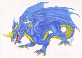 Blue Dragon by Mewstor