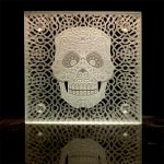 Etched Sugar Skull 2 by ImaginedGlass