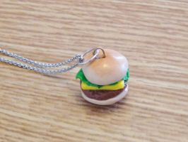 Burger Necklace :D by blueelolita