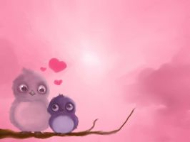 Love Birds Valentine by NeonDuctTape