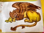 Griffin Complete drawing by IsWonderland