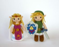 Link and Zelda by LunasCrafts