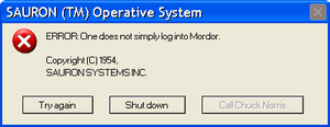Mordor Login Error by NeoMetalSonic360