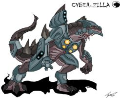 Godzilla Animated:Cyber-Zilla by Blabyloo229