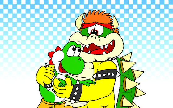 Yoshi and Bowser - Party Animals (Version 2) by AngryBirdsStuff
