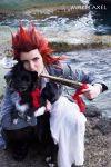 Stop! or I'll shoot - Axel Kingdom Hearts cosplay by MischievousBoyAilime
