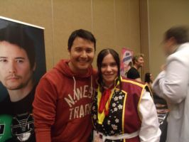 Johnny Yong Bosch and I- Colossalcon 2014 by albertxlailaxx