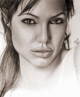 Angelina Jolie Drawing by analuizantunes