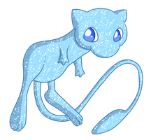 Shiny Mew - #151 by RandomDrawerOfArt