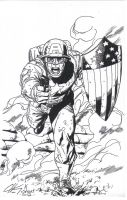 Captain America by Clayton Henry Inks by myself by kendiwan1987