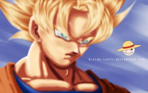 Just a remastered Goku by Alking-Luffy