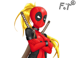 Lady Deadpool (Comision) by fotanimaciones