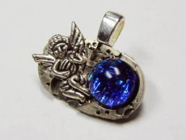 Steampunk Angel Glass Pendant by Create-A-Pendant