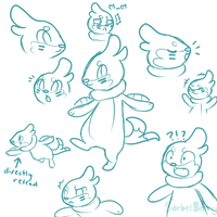 Buizel sketches by SorbetBerry