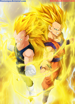Goku and Vegeta SSJ3 [Collab] by Sam-Baten