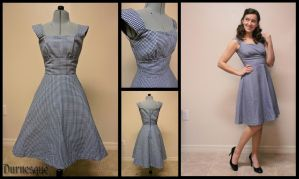 Little Gingham Dress by Durnesque