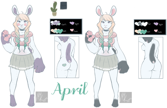 April (plushy and non plushy form) by draculabiscuit