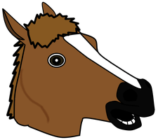 Horse Head Mask Custom by MikiBandy