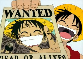 Wanted - Straw Hat Luffy by lotusii