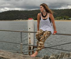 Emma L - white singlet top 1 by wildplaces