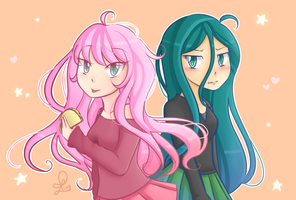 Fluffle Puff and Chryssi by Liny-An