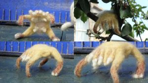 Head Crab half life felted by Stromasdragon