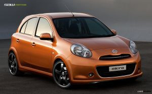 Nissan Micra 2011_frontView by yasiddesign