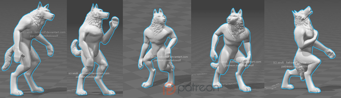 All Player Wolves sculpted - [Game Project] by KeksWolf