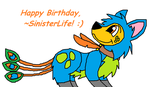 Happy Early Birthday, SinisterLife! by The-Jersey-Dragon
