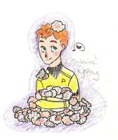 Chekov and Tribbles by Vuas